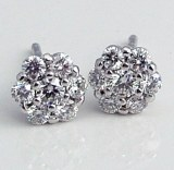 Diamond cluster earrings 14ktw .50cttw F VS