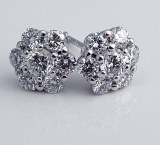 Diamond cluster earrings 14ktw 1.00cttw F VS