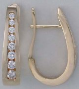 Diamond hoop earrings .75cttw 14kty F G VS