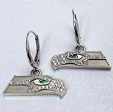 Seahawk Women's 14kt white gold diamond earrings SWE0885