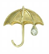 Sm Umbrella Pin 14kt Diamond