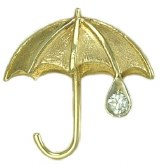 Lg Umbrella Pin 14kt Diamond