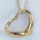 14kty Gold Open Heart Pendant 22x20mm model SWP0326Y