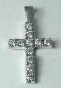 Diamond cross pendant 14ktw 0.90cttw model SWP0816W