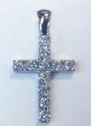 Diamond cross 14ktw gold 0.80cttw diamonds model SWP0862W