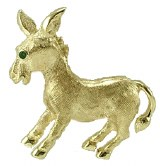 Democratic Donkey in 14kty gold model SWP0895Y