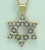 Star of Daivd diamond pendant 1.50cttw 14kty gold model SWP1651Y