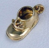 Baby Shoe Charm 18kty Gold