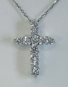 Diamond Cross 14kt .50cttw