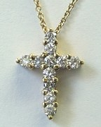 Diamond Cross 18ktw 0.75ct