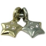Diamond Star Charm 18kt