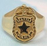 Seattle Police Signet Ring Med