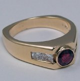 Ruby Ring Gent's 14KT