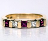 Ruby Diamond Ring 14kt 0.65ct