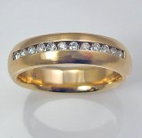 Diamond band 14kt gold 0.20 cttw model SWR2107
