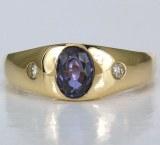 Sapphire Diamond Ring 1.00cttw
