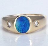 Opal Diamond Ring.10cttw 14kty