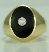 Onyx Diamond Ring 18kt