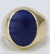 Lapis 14kt yellow gold ring