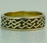 Celtic wedding band 6.5mm18kty