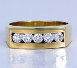 Men's Diamond Ring .75cttw 18k