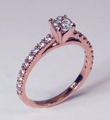 Diamond Engagement Ring 14kt rose gold 0.76cttw model SWR9392R