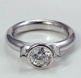 Diamond ring 18kt gold 1.00 ct model SWR9581