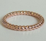 Rose gold rope band 14kt