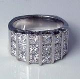 Diamond anniversary band  18kt gold 3.78 cttw model SWRA1111