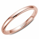 A Wedding band 14k rose 2mm Supreme Heavy Weight