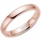A Wedding band 14k rose 4mm Supreme Heavy Weight