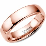 A Wedding band 14k rose 6mm Supreme Heavy Weight