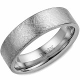 Wedding band 14k white 6mm