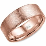 Wedding band 14k rose 8mm
