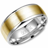 Wedding band 14kt two tone 8mm