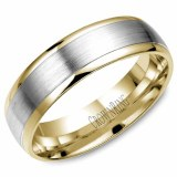 Wedding band 14kt two tone 6mm