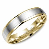 Wedding band 14kt two tone 5mm