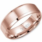 Wedding band 14kt rose 7mm