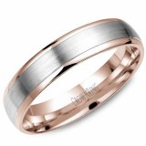Wedding band 14kt rose 4mm
