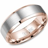 Wedding band 14kt two tone 7mm