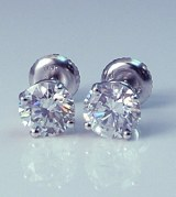 Diamond Stud Earrings 2.15cttw D,E SI2