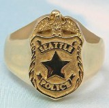 Seattle Police Signet Ring Lg