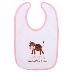 Pink Trim Smooch Bib