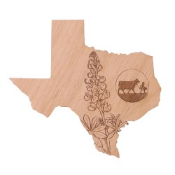Magnet Texas Wood