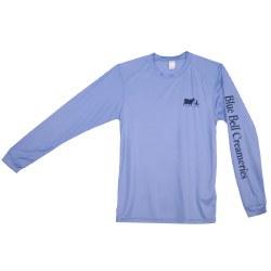 Blue LS Dry Fit Tee Sm