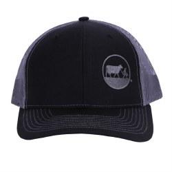 Cap Black Grey Mesh