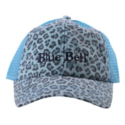 Cap Blue Leopard Mesh