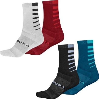 Coolmax Stripe Socks S/M 2PK