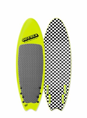"Odysea 6'6"" Quad Wake Lemon"