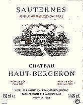 Haut Bergeron 1986